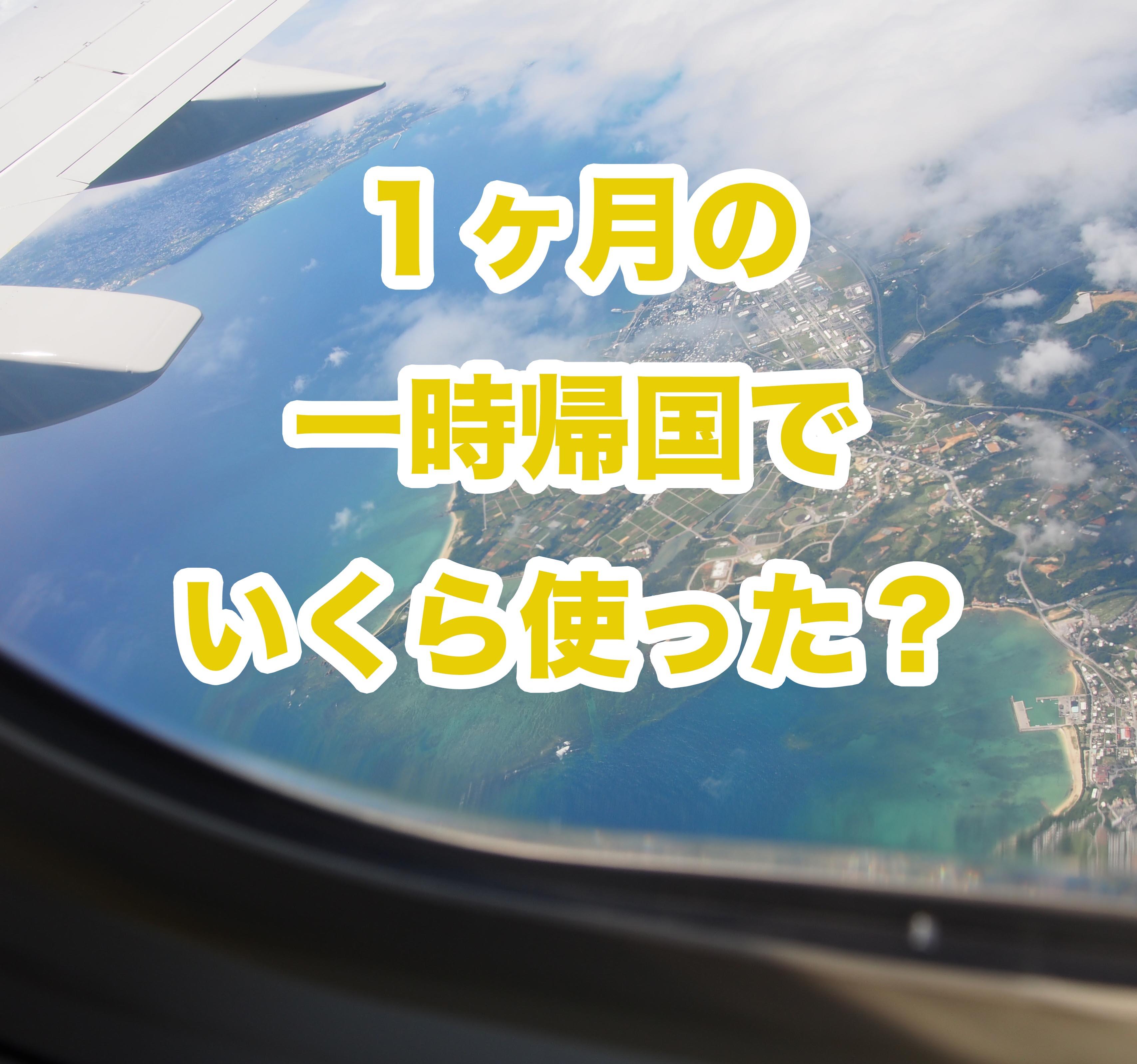 約1ヶ月の一時帰国で使った金額は●十万円!